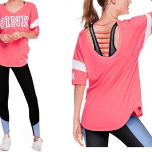 BOGO SALE VS Pink | Strappy Open Back Athletic Tee